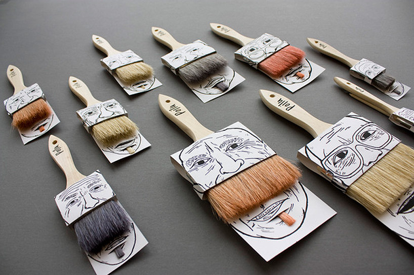 Poilu paint brush packagingdesign