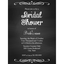 Bridal shower's Invitation Card in old man's style