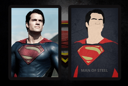 Henry Cavill made to look as hot as he is for real in Minimalistic Design.